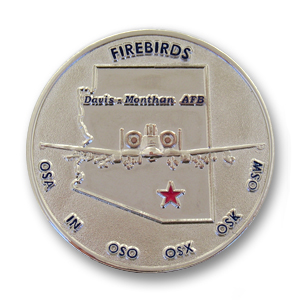 Davis Montan Air Force Base Challenge Coin - 1.75 inch, Nickel with sandblasting