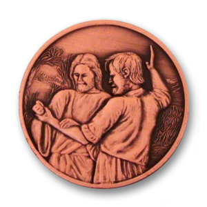 Religious Coin - 1.56 inch, Antique Copper